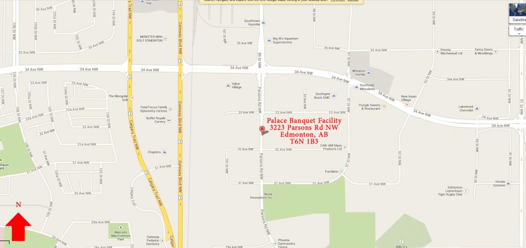 نقشه محل برگزار جشن بزرگ یلدا