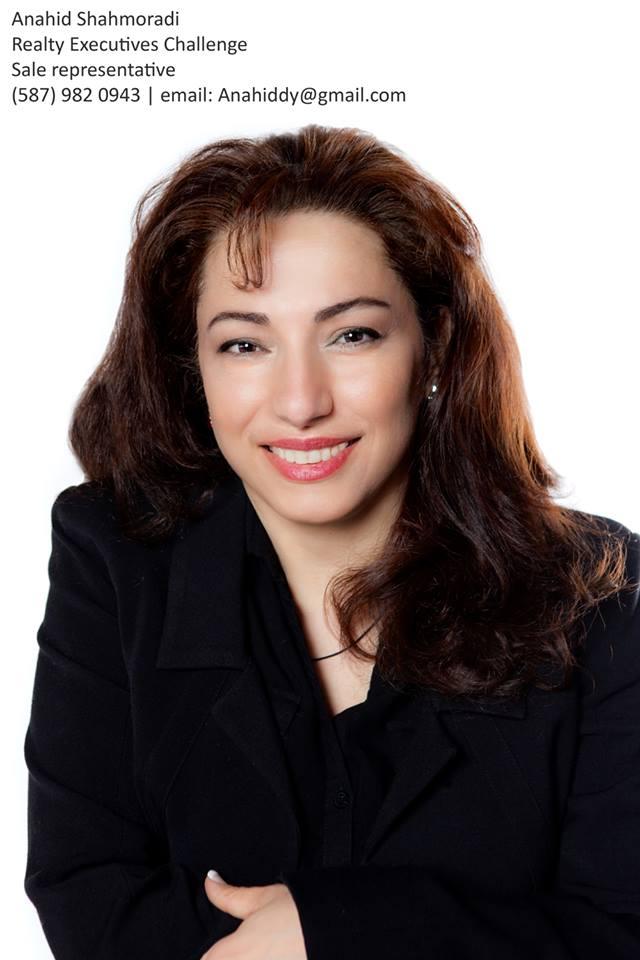 خانم آناهید شاهمرادی - مشاور املاک در ادمونتون